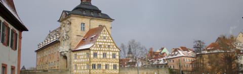 19 Bamberger Rathaus im Winter © Ralf Saalmüller